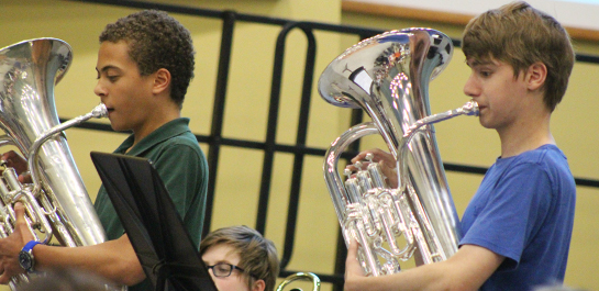 Tuba and Euphonium students performing
