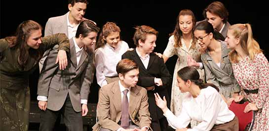 Acting students performing in a summer play